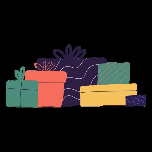 Ilustração da caixa de presentes de Natal Transparent PNG