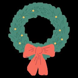 Ilustración de diseño de arco de corona de Navidad