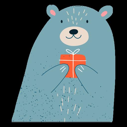 Ilustración de regalo de oso de Navidad Transparent PNG