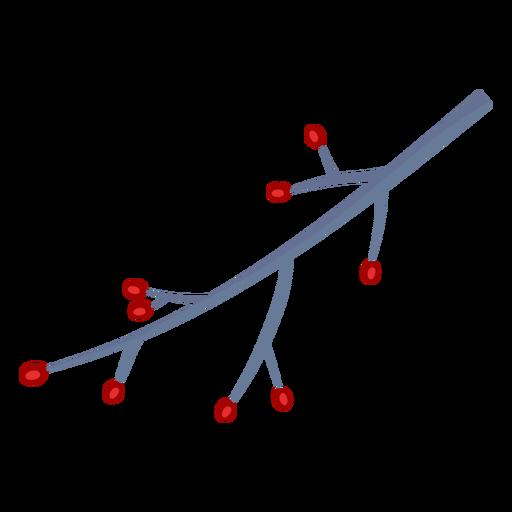 Diseño tradicional de rama navideña