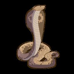 Diseño plano de serpiente cobra