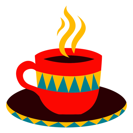 Coffee cup steamy illustration