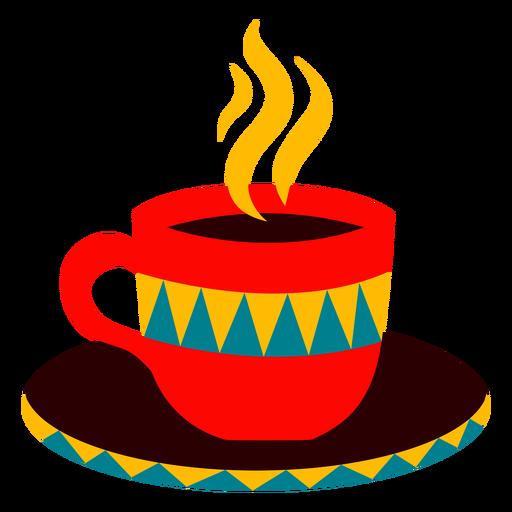 Ilustración de taza de café humeante