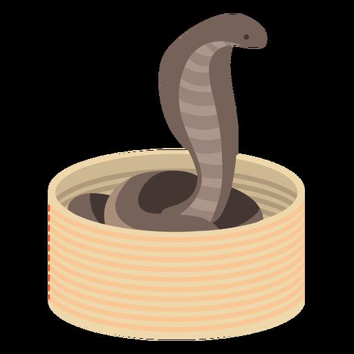 Cobra víbora coliedada plana