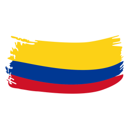 Colombia brushy flag design