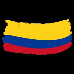 Desenho de bandeira em pincel da Colômbia