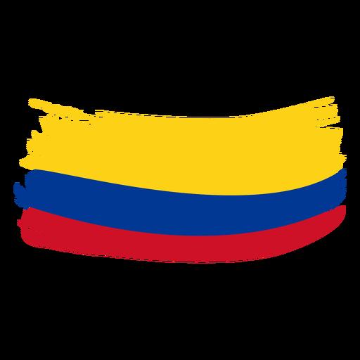 Colombia brushy flag design