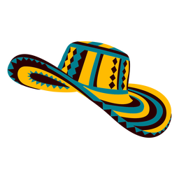 Colombian traditional hat illustration