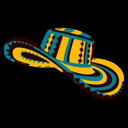 Ilustración de sombrero tradicional colombiano