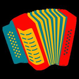 Diseño de instrumento de acordeón colorido