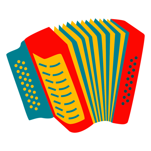 Colorful accordion instrument design