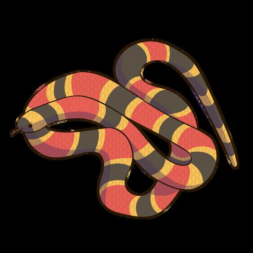 Coral snake animal flat design