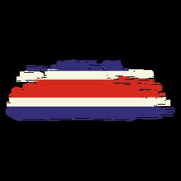Desenho da bandeira pincelada da Costa Rica