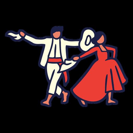 Couple dancing illustration