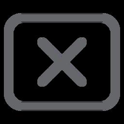 Cross rectangle icon design