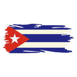 Cuba brushy flag design