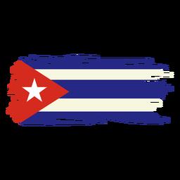 Diseño de bandera de Cuba Brushy