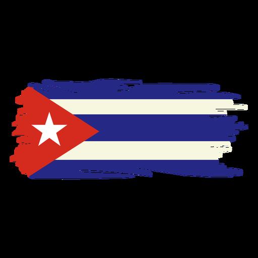 Desenho da bandeira pincelada de Cuba
