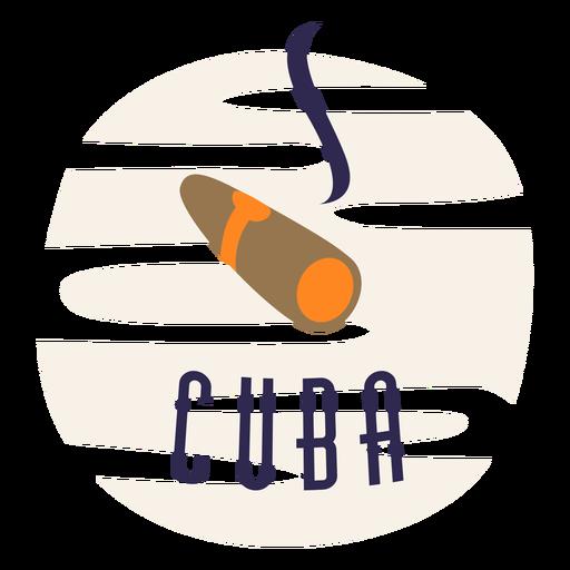 Cuba cigarro diseño plano tradicional.
