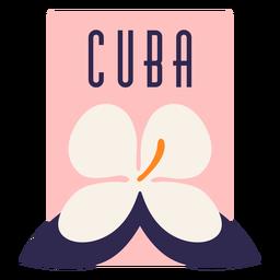Cuba flower design flat