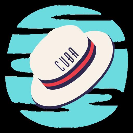 Cuba traditional hat imagery flat