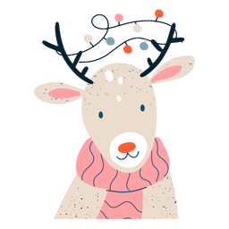 Cute reindeer festive illustration