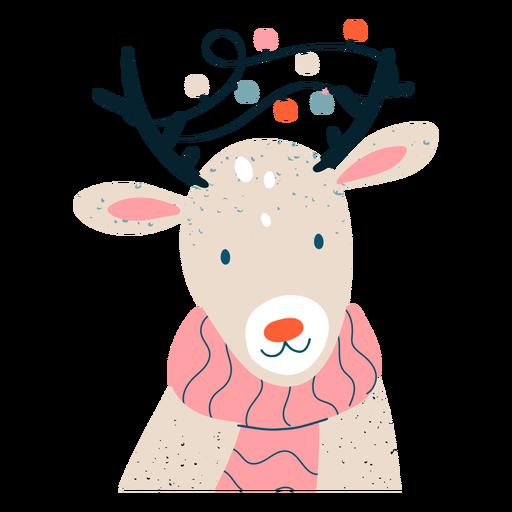 Cute reindeer festive illustration