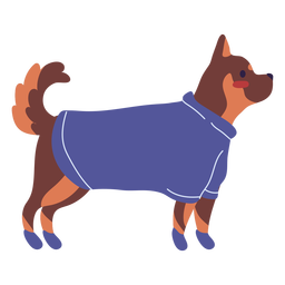 Dog clothing standing pose illustration