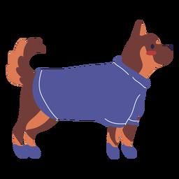 Ilustración de pose de pie de ropa de perro
