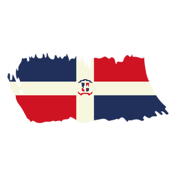 Dominican republic brushy flag design