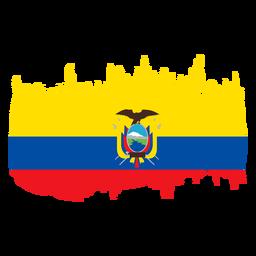 Diseño de la bandera de Ecuador Brushy