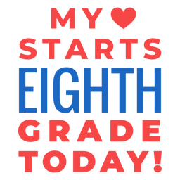 Eighth grade back to school lettering
