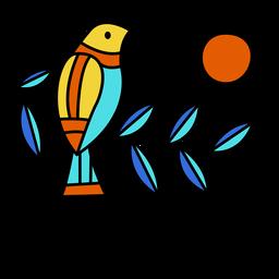Diseño de ilustración de pájaro de el salvador