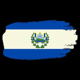 Diseño de bandera de el salvador brushy