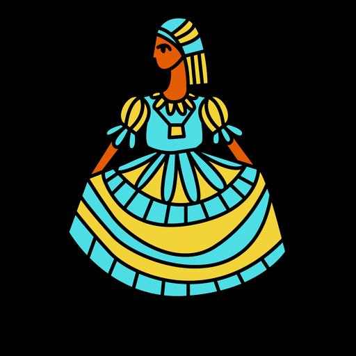 Ropa tradicional de mujer de el salvador