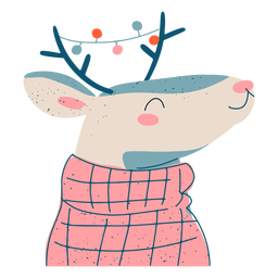 Festive christmas reindeer illustration