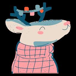 Ilustración de reno de navidad festiva