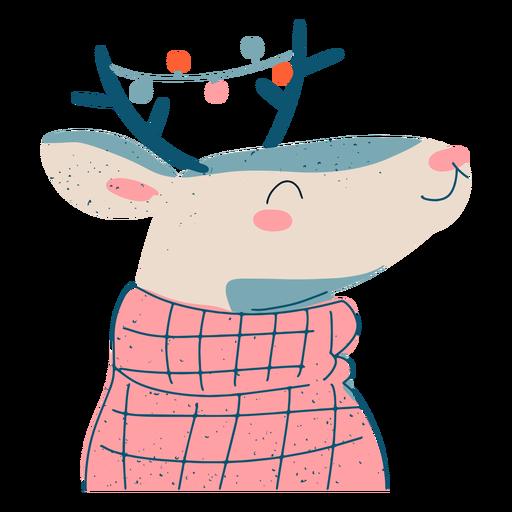 Ilustración de reno de navidad festiva Transparent PNG