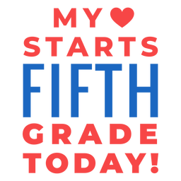 Fifth grade back to school lettering