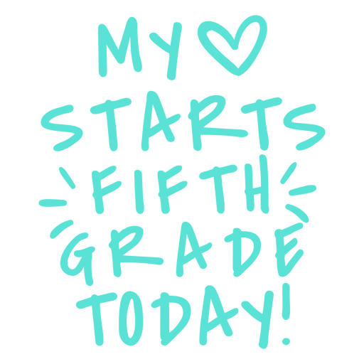 Fifth grade love starts design