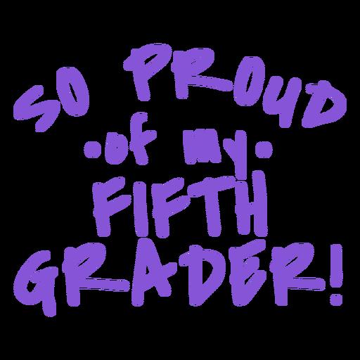 Graduado de quinto grado orgulloso rotulación