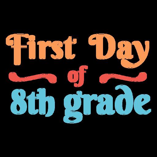 Cita del primer día 8vo grado