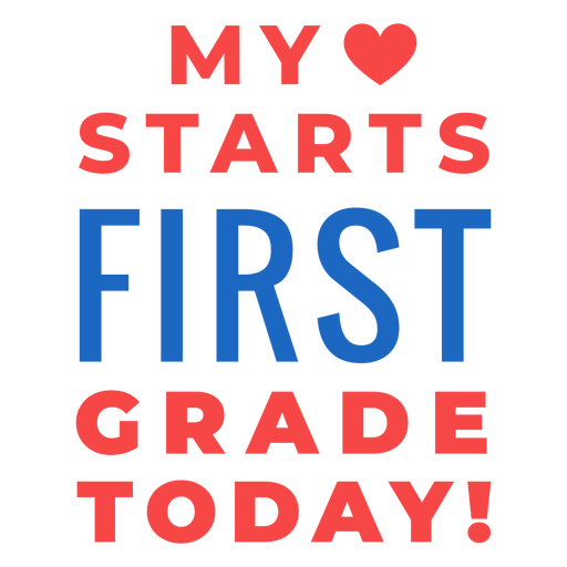 First grade back to school lettering