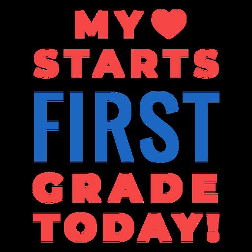 Letras de regreso a la escuela de primer grado