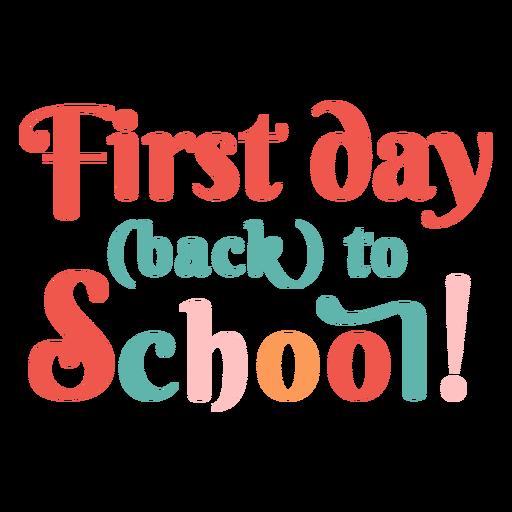 Primer día de regreso a la escuela letras