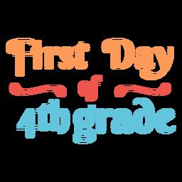Projeto de letras do primeiro dia, 4ª série