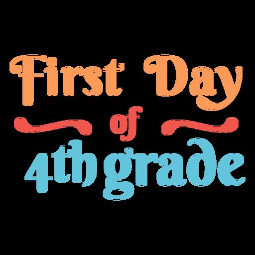 Diseño de letras del primer día 4to grado