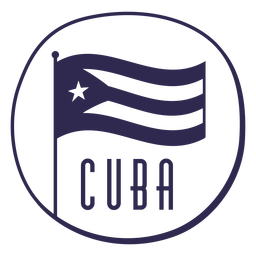 Flag cuba nationalism design