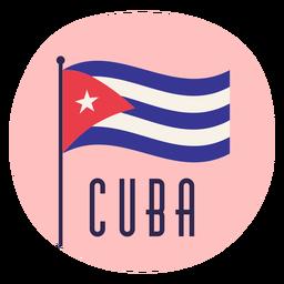 Flag cuba nationalism flat design