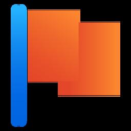 Icono de bandera plana